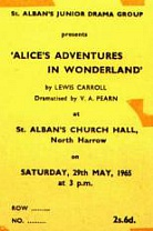 Alice's Adventures in Wonderland - H<br>May 1965