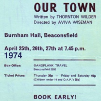 Our Town<br>Apr 1974