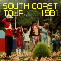 South Coast Tour, 1981<br />Aug<br />Larger photos, press cuttings 05 Feb 2018