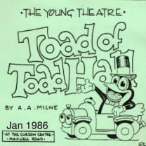 Toad of Toad Hall<br />Jan<br />New, 5-1-2019