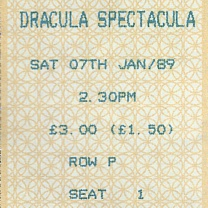 The Dracula Spectacula<br />Jan<br />Tickets, programme 9-Nov-2019;