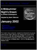 A Midsummer Night's Dream<br />Jan<br />Last edited before 2014